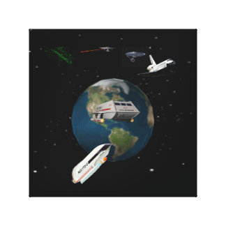 space ships by highsaltire gallery wrapped canvas