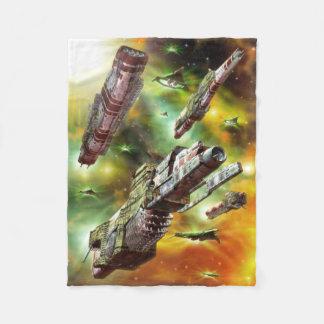 Space Ships Fantasy Small Fleece Blanket
