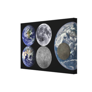 Space Shots - The Earth & Moon Canvas Print