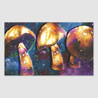 Space Shroomery Rectangle Sticker