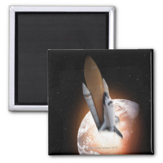 Space Shuttle 5 Square Magnet
