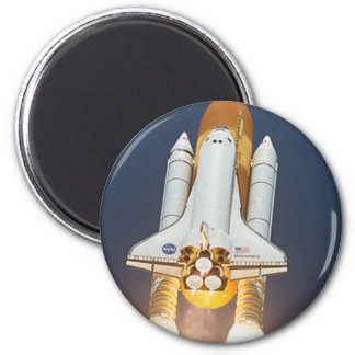 Space Shuttle 6 Cm Round Magnet