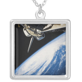 Space Shuttle 6 Silver Plated Necklace