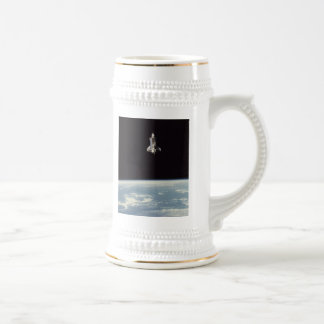 Space Shuttle Above Earth Beer Stein