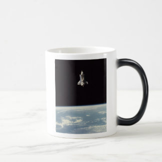 Space Shuttle Above Earth Morphing Mug