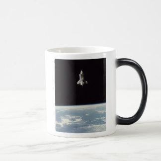 Space Shuttle Above Earth Morphing Mug