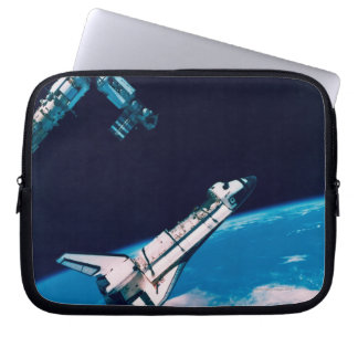 Space Shuttle and Station in Orbit Laptop Sleeve