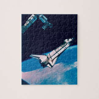 Space Shuttle and Station in Orbit Puzzle