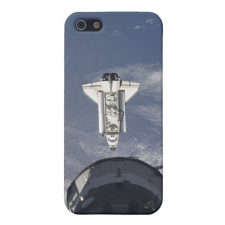 Space Shuttle Atlantis and a Russian spacecraft iPhone 5 Cover