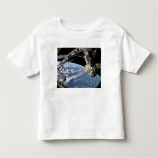 Space Shuttle Atlantis and a Soyuz spacecraft Toddler T-Shirt