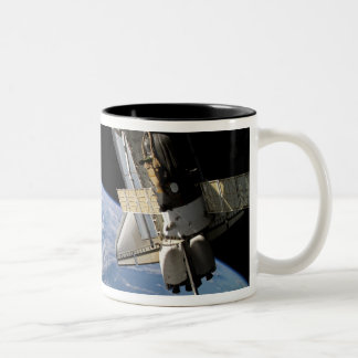 Space Shuttle Atlantis and a Soyuz spacecraft Two-Tone Mug