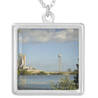 Space Shuttle Atlantis and Endeavour Silver Plated Necklace