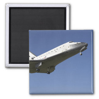 Space shuttle Atlantis approaching Runway 33 2 Square Magnet