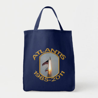 Space Shuttle Atlantis Final Lift Off Photo Grocery Tote Bag