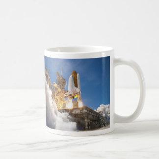 Space Shuttle Atlantis Launching STS-132 Mission Basic White Mug