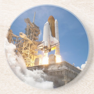 Space Shuttle Atlantis Launching STS-132 Mission Beverage Coaster
