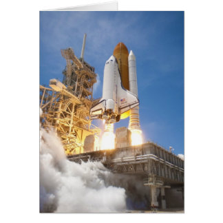 Space Shuttle Atlantis Launching STS-132 Mission Greeting Card