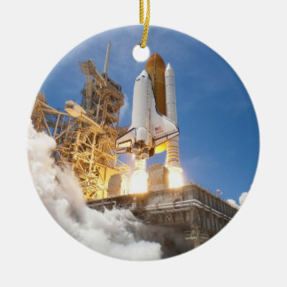 Space Shuttle Atlantis Launching STS-132 Mission Christmas Ornament