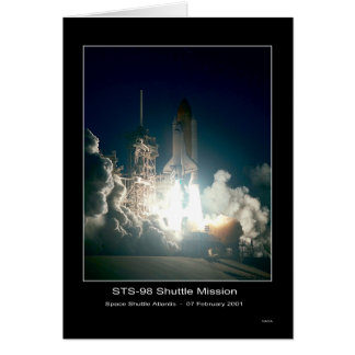 Space Shuttle Atlantis Lift-off - February 7, 2001 Greeting Card