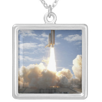 Space Shuttle Atlantis lifts off 10 Silver Plated Necklace