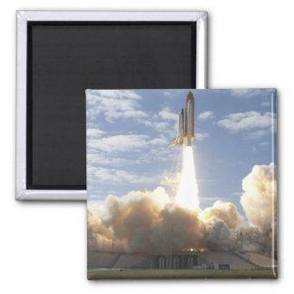 Space Shuttle Atlantis lifts off 10 Square Magnet