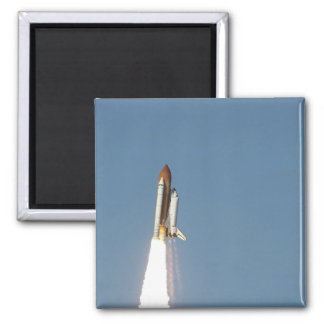 Space Shuttle Atlantis lifts off 11 Square Magnet