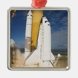 Space Shuttle Atlantis lifts off 12 Christmas Ornament