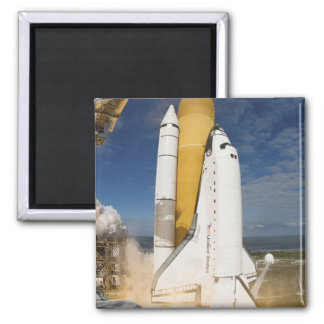 Space Shuttle Atlantis lifts off 12 Square Magnet