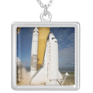 Space Shuttle Atlantis lifts off 12 Silver Plated Necklace