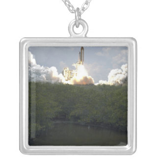 Space Shuttle Atlantis lifts off 13 Silver Plated Necklace