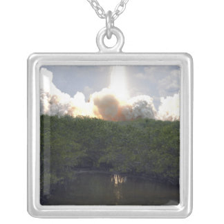 Space Shuttle Atlantis lifts off 14 Silver Plated Necklace