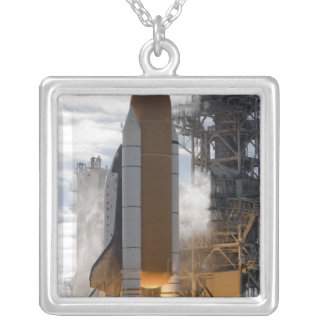 Space Shuttle Atlantis lifts off 15 Silver Plated Necklace