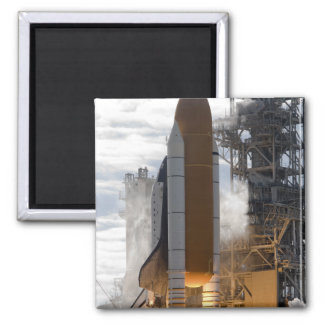 Space Shuttle Atlantis lifts off 15 Square Magnet