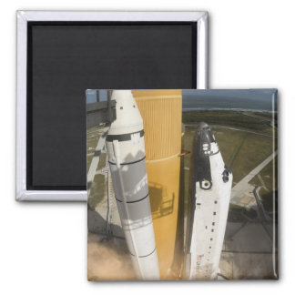 Space Shuttle Atlantis lifts off 17 Square Magnet