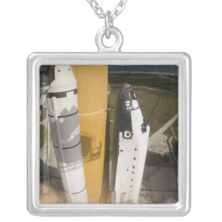 Space Shuttle Atlantis lifts off 17 Silver Plated Necklace