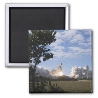Space Shuttle Atlantis lifts off 18 Square Magnet