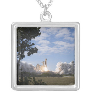 Space Shuttle Atlantis lifts off 18 Silver Plated Necklace