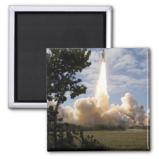 Space Shuttle Atlantis lifts off 19 Square Magnet