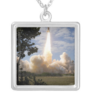 Space Shuttle Atlantis lifts off 19 Silver Plated Necklace