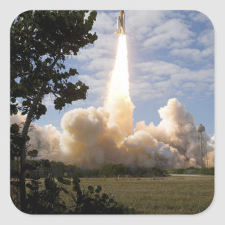 Space Shuttle Atlantis lifts off 19 Square Sticker