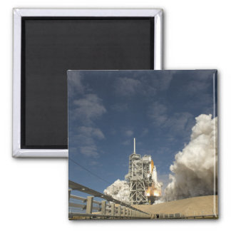 Space Shuttle Atlantis lifts off 20 Square Magnet