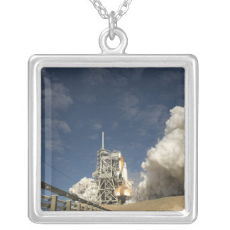Space Shuttle Atlantis lifts off 20 Silver Plated Necklace