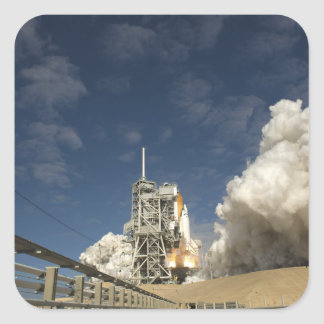 Space Shuttle Atlantis lifts off 20 Square Sticker