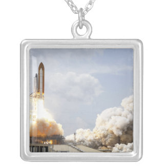 Space Shuttle Atlantis lifts off 21 Silver Plated Necklace