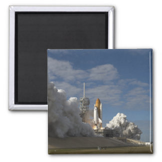 Space Shuttle Atlantis lifts off 23 Square Magnet