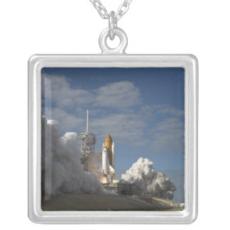 Space Shuttle Atlantis lifts off 23 Silver Plated Necklace