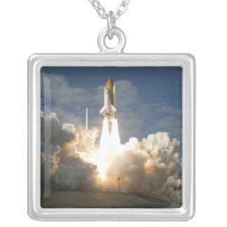 Space Shuttle Atlantis lifts off 24 Silver Plated Necklace