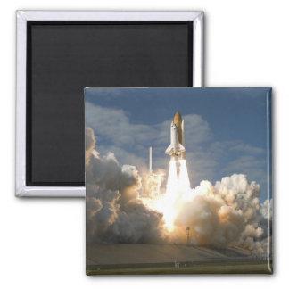 Space Shuttle Atlantis lifts off 24 Square Magnet