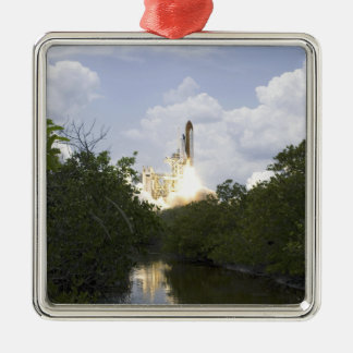 Space Shuttle Atlantis lifts off 25 Christmas Ornament