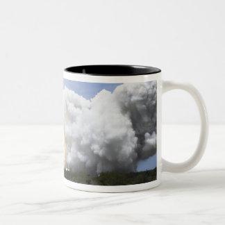 Space Shuttle Atlantis lifts off 28 Two-Tone Coffee Mug